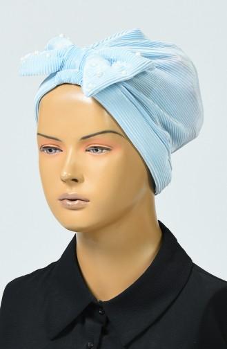 Bonnet Avec Noeud 7003-05 Bleu Bébé 7003-05