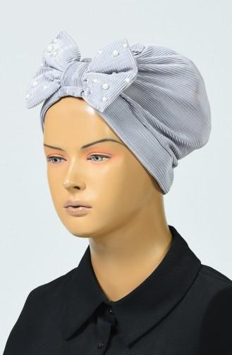 Bonnet avec Noeud 7003-10 Gris 7003-10