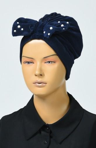 Bonnet avec Noeud 7003-13 Bleu Marine 7003-13