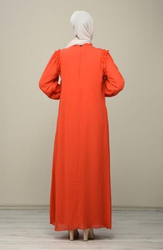 Robe de Soirée Mousseline 8127-02 Fleurs de Grenadine 8127-02