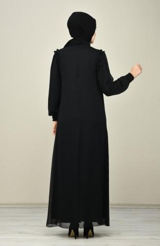 Schwarz Hijap Kleider 8127-04