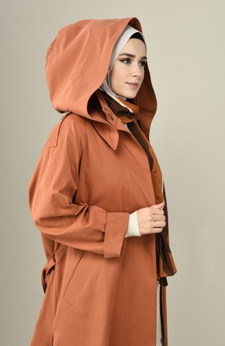 Tobacco Brown Trench Coats Models 4002-01