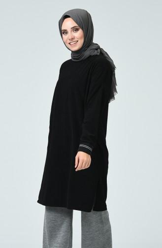 Tunique en Velours 5284-01 Noir 5284-01