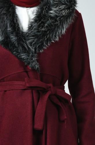 Fur Felt Coat Bordeaux 5091-01
