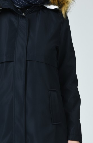 Manteau à Capuche avec doublure 0052-03 Bleu Marine 0052-03