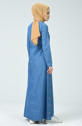 Robe Jean à Boutons 4095-02 Bleu Jean 4095-02