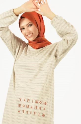 Striped Tunic Ecru 1487-01