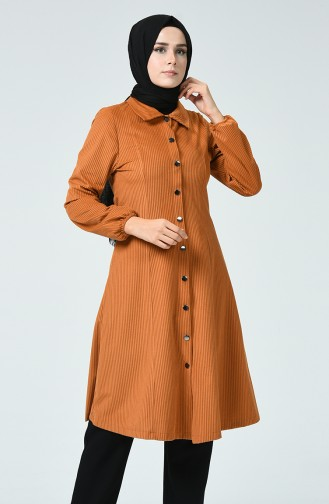 Snap Velvet Cape Cinnamon Color 0029-10