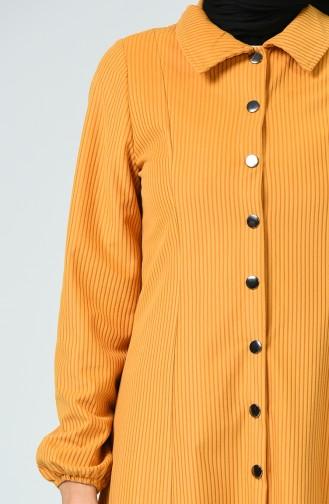 Snap Velvet Cape Mustard 0029-11
