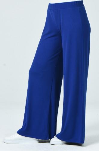 Waist Elastic Wide leg pants Blue 8137-03