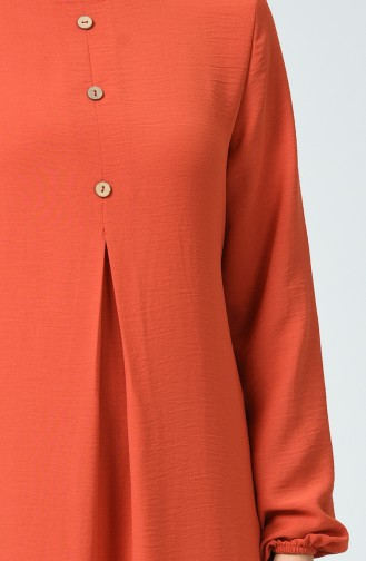 Ziegelrot Hijap Kleider 0050-04