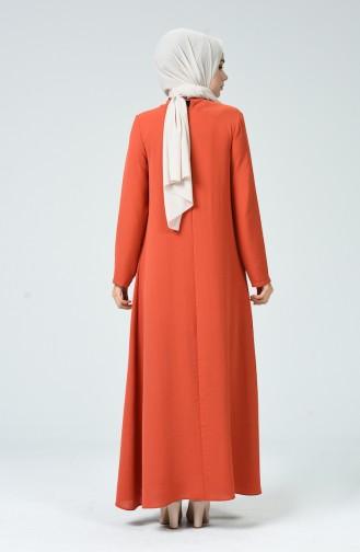 Robe avec Collier 0053-05 Brique 0053-05