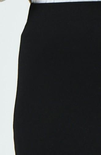 Jupe Taille Élastique 2234-01Noir 2234-01