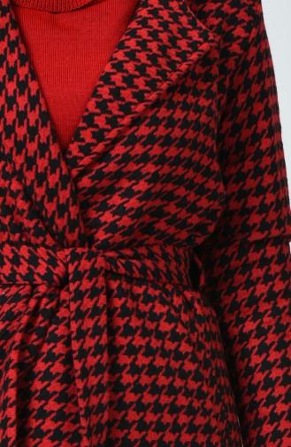 Cape a Carreaux 8404-01 Rouge Noir 8404D-01