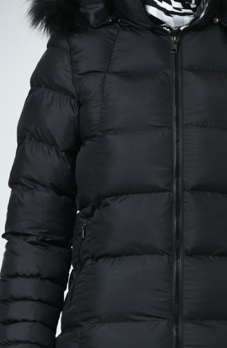 Hooded Quilted Coat 13051-01 Black 13051-01