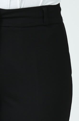 Cep Detaylı Klasik Pantolon 1292PNT-01 Siyah