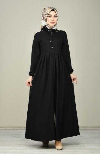 Abaya a Fermeture 2130-03 Noir 2130-03