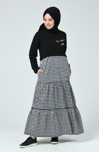 Black Hijab Dress 4102-01
