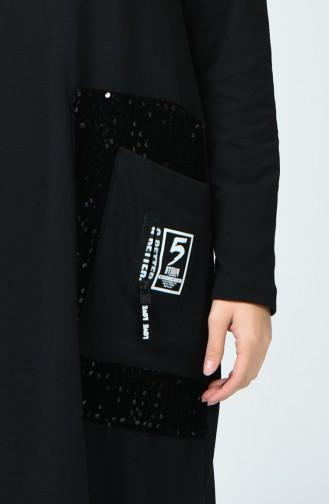 Black Hijab Dress 4121-01