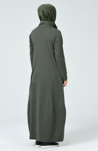 Khaki Hijab Dress 4121-03