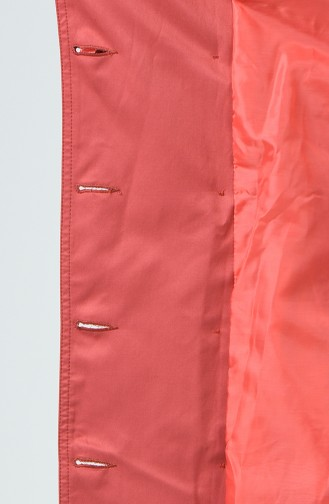 Trench Coat a Boutons 6714-06 Corail 6714-06