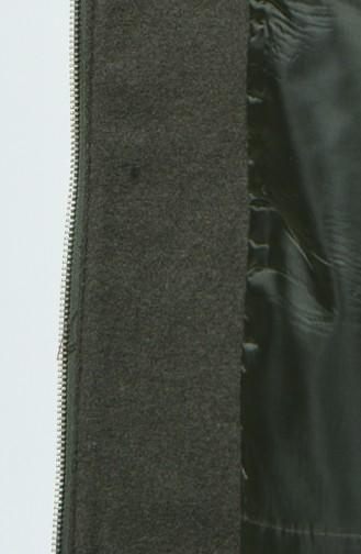 معطف طويل كاكي 1188-02