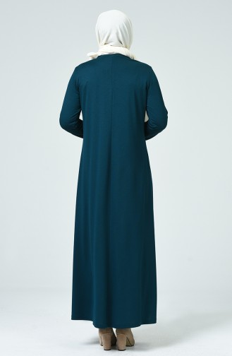 Robe Perlées Grande Taille 1139-04 Pétrol 1139-04