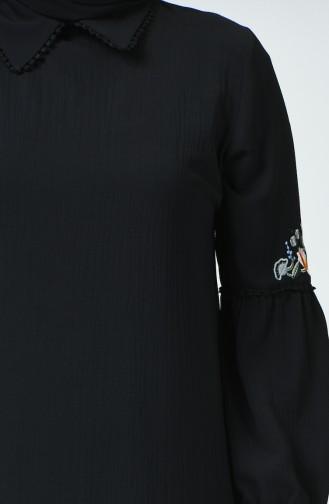 Tunique Bordée Grande Taille 1649-01 Noir 1649-01
