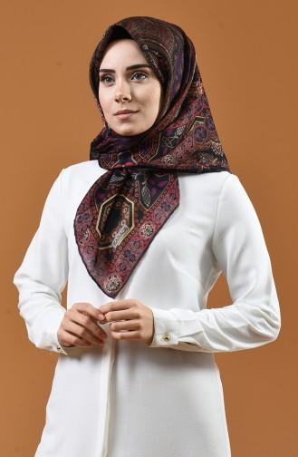 Karaca Desenli Soft Eşarp 90658-10 Füme 90658-10