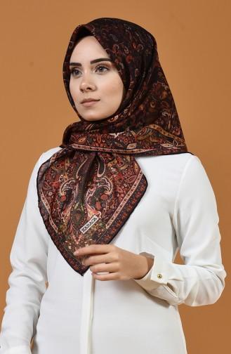كاراجا وشاح ناعم منقوش بنفسجي داكن 90659-09