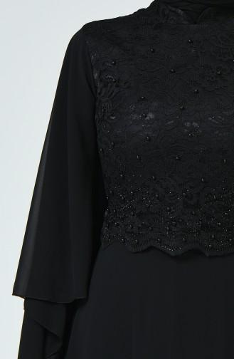 Robe de Soirée a Dentelle 5220-09 Noir 5220-09