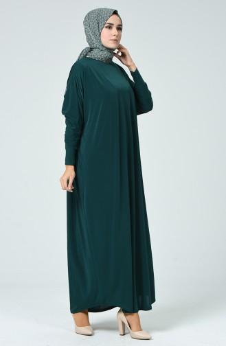 Bat Sleeve Dress Emerald Green 2000-01
