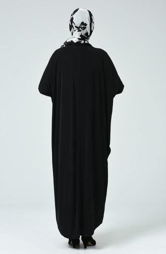 Bat Sleeve Dress Black 2000-02