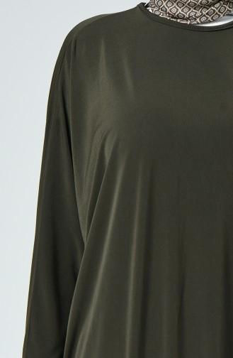 Saloppe Kleid mit Fledermausarm 2000-05 Khaki 2000-05
