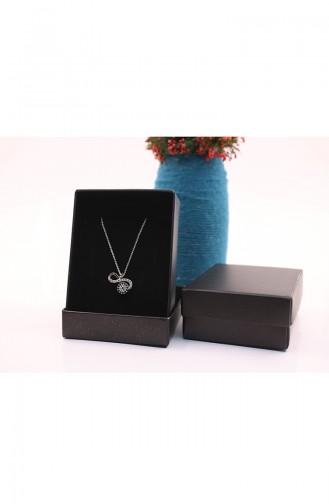 Silver Gray Necklace 04-01