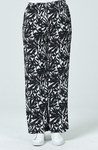Pantalon à Motifs 1040-01 Noir 1040-01