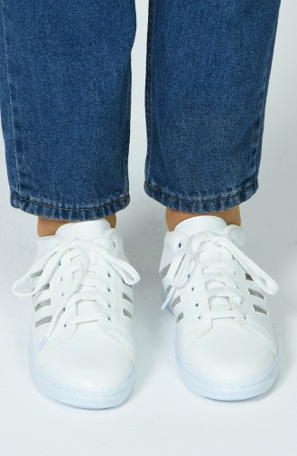 White Sport Shoes 30050-02