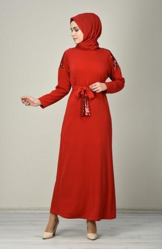 Rot Hijap Kleider 8136-02