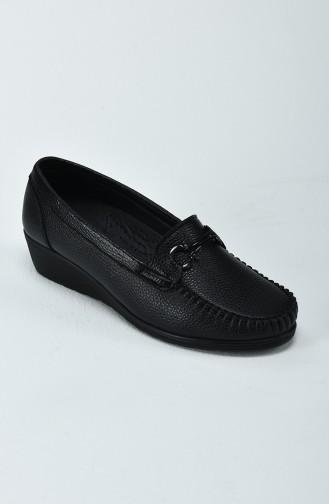 Chaussure à Talon Compensé Pour Femme 0220-01 Noir 0220-01