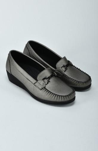Chaussure à Talon Compensé Pour Femme 0220-03 Argent 0220-03