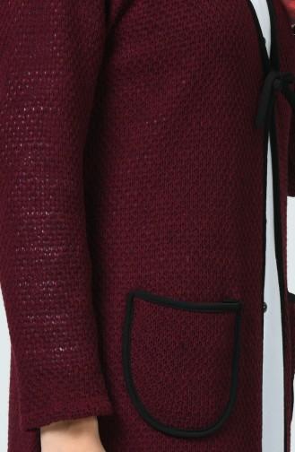 Pocket Cardigan Bordeaux 2052-04