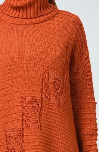 Trikot Rollkragenpullover Pullover  1940-02 Ziegelrot 1940-02