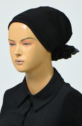 Bonnet avec Détail 7005-01 Noir 7005-01