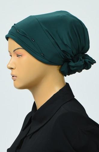 Bonnet avec Détail 7005-15 Vert émeraude 7005-15