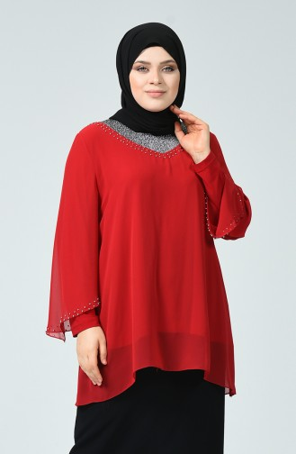 Claret red Blouse 2220-03