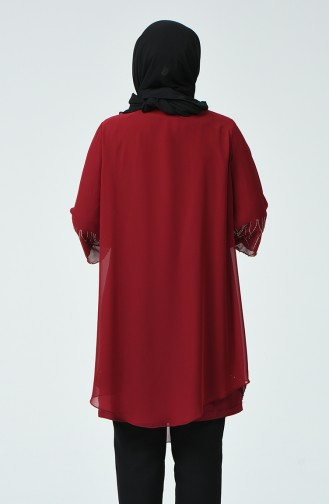 Claret red Blouse 2222-03