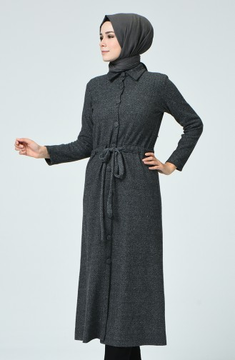 Abayas Col Chemise 0024-06 Anthracite 0024-06
