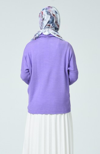 Pull Tricot Col Roulé 0562-03 Lilas 0562-03