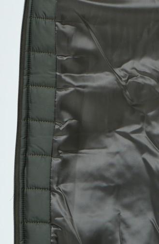 Manteau Matelassé a Capuche Grande Taille1407-01 Khaki 1407-01