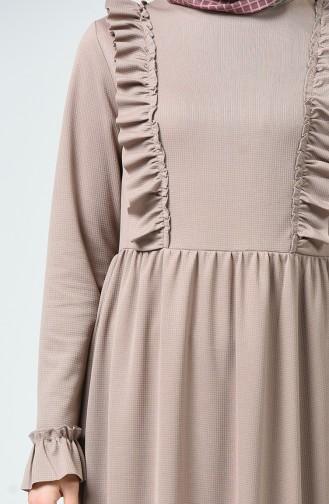 Robe à Froufrous 1424-01 Vison 1424-01